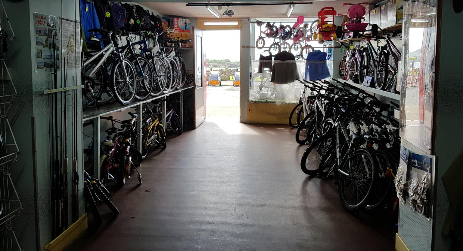 Bikes at Mapes of Millport